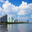 Moskva River in the district Nagatino - Stock Photo