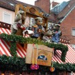 Christmas signboard with dolls in Nuremberg — Stock Photo #16027719