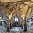 Interior of the Sedlec ossuary (Kostnice), Czech Republic — Foto de Stock