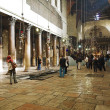 Interior of the Church of the Nativity in Bethlehem - Stock Photo