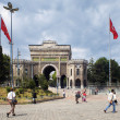 Main entrance to the Istanbul University in Beyazit Square — Stock Photo