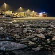 Viking Line ferry terminal in Helsinki at the winter night — Stock Photo #16028453