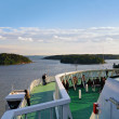 View from the open deck of ferry on the skerries — Stock Photo