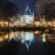 Evening view on the De Waag in Amsterdam — Stock Photo