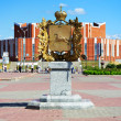 Monument of History of Tomsk Emblem, Russia — Stock Photo #16029073