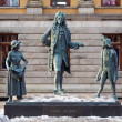 Monument to the writer Ludvig Holberg in Oslo, Norway - Stock Photo