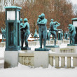 Sculptures at Vigeland Park in Oslo, Norway — Stock Photo
