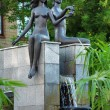 Adam and Eve - a fountain in Krasnoyarsk — Stock Photo