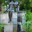 Adam and Eve - fountain in Krasnoyarsk — Stock Photo #16029351