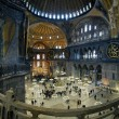 Interior of the Hagia Sophia in Istanbul — Foto Stock