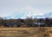 посмотреть на корякский вулкан на камчатке, россия — Стоковое фото