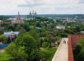 View of the Assumption Cathedral from the Smolensk fortress wall — Stock Photo