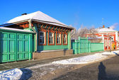 Russian wooden house in Kolomna, Russia — Stock Photo