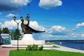 Onego - the sculpture in Petrozavodsk, Russia — Stock Photo