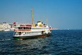 Passenger ship in Bosporus, Istanbul — Stock Photo