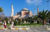 Vendors of sherbet near the Hagia Sophia in Istanbul — Stock Photo
