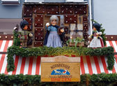 Christmas signboard with dolls in Nuremberg — Stock Photo