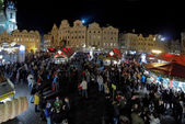 Christmas market on the Old Town Square in Prague — Stock Photo