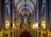 Interior of the Central Church of Pori, Finland — Foto Stock