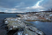 Coast of Lappo Island in winter, Aland Islands — Stock Photo