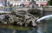 Triton Fountain in Duesseldorf, Germany — Stock Photo