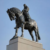 Statua equestre di jan zizka a praga, repubblica ceca — Foto Stock