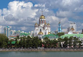 View of the Church on Blood in Yekaterinburg, Russia — Stock Photo