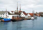 Sailing ship near the berth in Haugesund, Norway — Stock Photo