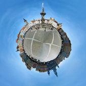 球面全景的中央广场捷克布杰约维 — 图库照片