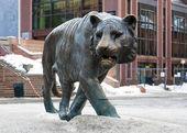 老虎在奥斯陆中央火车站附近的雕塑 — 图库照片