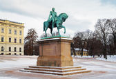 Statue of King Carl XIV Johan in Oslo, Norway — Stock Photo