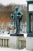 在挪威奥斯陆维格兰雕塑公园雕塑 — 图库照片