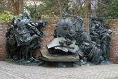 City founding monument in Dusseldorf — Stock Photo