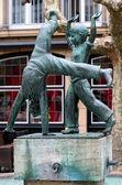 Radschlager Fountain on the Burgplatz square in Dusseldorf — Stock Photo