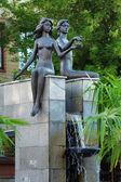 Adam and Eve - a fountain in Krasnoyarsk — Stock Photo