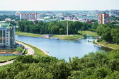 Confluence of the Oka and Orlik rivers — Stock Photo