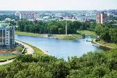 Confluence of the Oka and Orlik rivers — Stock Photo