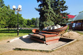 Monument of ukrainian dumpling in Poltava — Stock Photo