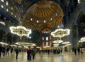Interior of the Hagia Sophia in Istanbul — Stock Photo