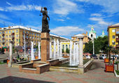 Fountain Themis in Krasnoyarsk, Russia — Stock Photo