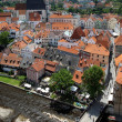 View of Cesky Krumlov with St. Vitus cathedral, Czech Republic — Stock Photo