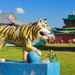 Sculpture of Buddhist Tiger - Stock Photo