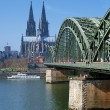 View on Cologne Cathedral and Hohenzollern Bridge — Stock Photo #16030341