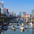 Dusseldorf, Media Harbour with contemporary architecture — Stock Photo