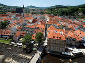 View of Cesky Krumlov with St. Vitus cathedral — Stock Photo