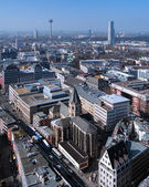 View on Cologne from Cologne Cathedral, Germany — Stock Photo