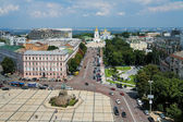 Kiev, Sofia square and St. Michael Golden-Domed Monastery — Stock Photo