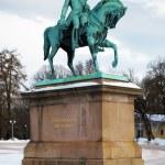 Постер, плакат: Statue of King Carl XIV Johan in Oslo Norway