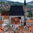 Stock Photo: St. Vitus cathedral in Cesky Krumlov, Czech Republic