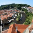 Stock Photo: Cesky Krumlov Castle, Old Town and Vltava river